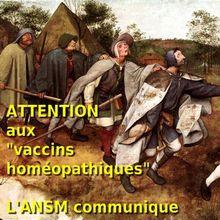 Attention : l'ANSM communique sur les prétendus « vaccins homéopathiques »
