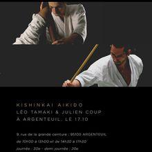Léo Tamaki et Julien Coup à Argenteuil, 17 octobre