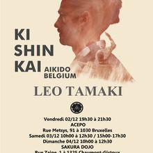 Léo Tamaki à Bruxelles, 2 au 4 décembre