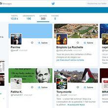 Compte Twitter associé : le 300ème abonné