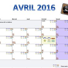 CALENDRIER EGYPTIEN ANCIEN AVRIL 2016