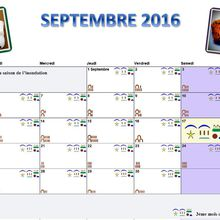 CALENDRIER EGYPTIEN ANCIEN SEPTEMBRE 2016