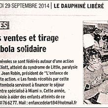ARCHIVES DE PRESSE : Mise à jour. DAUPHINE LIBERE - 29 SEPTEMBRE 2014