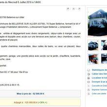 TGI Cusset : Villa vendue 125.000 € à Bellerive/Allier