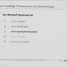 Le glyphosate classé « cancérigène probable » : le BfR communique, l'OMS... bof !