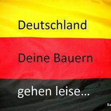Allemagne, tes agriculteurs se meurent!