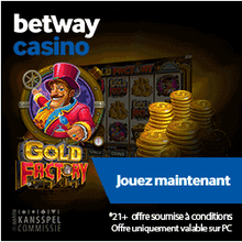 5 free spin sur betway.be