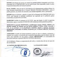 COMUNICADO DE APOYO DE LA OPOSICIÓN EXILIADA A LA DECISIÓN TOMADA POR LA F.O.D.