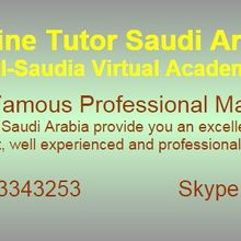 Saudi Arabia Online Tuition – Algebra – Geometry – Calculus Tutors