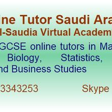 Online tutor in Saudi Arabia