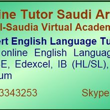 English Language Online Tutor in Saudi Arabia