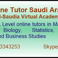 Online A level Tutors Saudi Arabia
