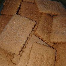 Biscuit petit beurre chocolat et vanille