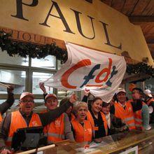 Grève dans les boulangeries Paul