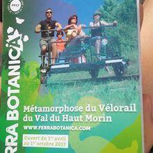 Le Vélorail - Ferra Botanica en Seine et Marne.