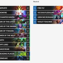 Druide Cheap Frozen Throne Budget Decks - Pas de legendaire, ni d'epique!