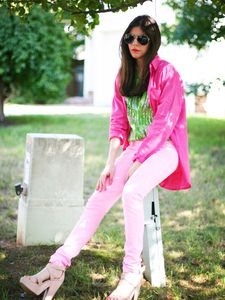 Neon Pink and Sequins