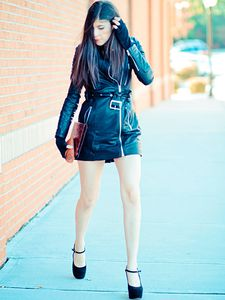 Leather Trench Coat or Dress? + GIVEAWAY!!