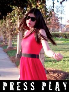 Red Armani Dress in Motion