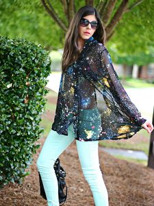 Galaxy Print Blouse