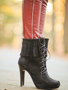 Fringe Boots and Leather