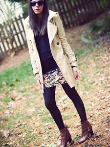 Trench Coat and Tights