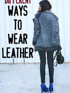 Different Ways to Wear Leather (even Vegan!)