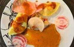Ravioles de Gambas au Citron et Saint-Jacques