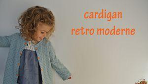 Cardigan rétro moderne