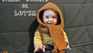 Bonnet écharpe de lutin