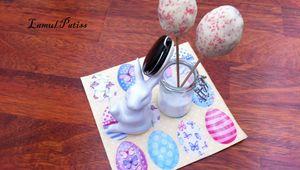 Cakes pops oeufs de Pâques