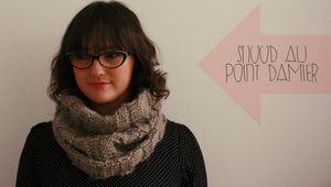 snood au point damier