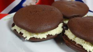 Whoopies Chocolat et son cœur chocolat blanc noix de coco
