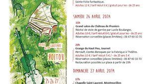 Festival le Baroque est dans le Pré du 25 au 27 Avril
