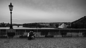 Street Photography : Prague en Noir & Blanc