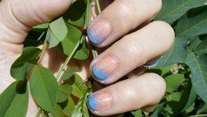 Nail art bicolor dégradé