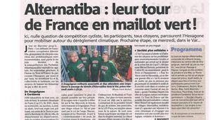 """Mercredi 24 juin, vers10 heures, à Lorgues, comme à Draguignan, au Thoronet, au Val ... et dans toute la France : """"Relevons le défi climatique""""."""