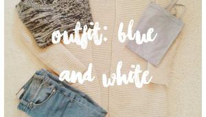 [Outfit] Blue & White