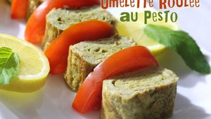 Vidéo omelette roulee au pesto