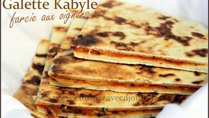 Recette galette kabyle farcie