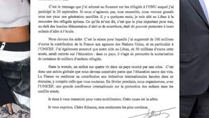 Quand François Hollande et Rihanna s'écrivent ! #EducationCannotWait