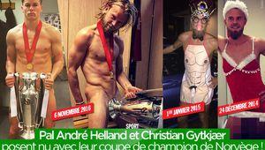 Pal André Helland et Christian Gytkjær posent nu avec leur coupe de champion de Norvège ! #RosenborgBK