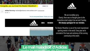 Le mail maladroit d'Adidas après le marathon de Boston ! #fail