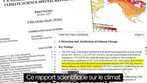 Ce rapport scientifique sur le climat que Trump va censurer ! #Climat