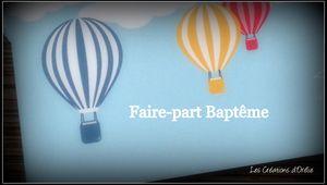 Baptême sous le thème des montgolfières