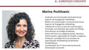 Profa. Marina Pechlivanis - 2º Forum Internacional da Alimentação Consciente.