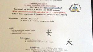 Sougé, Bessé : reprise des cours de Tai Chi