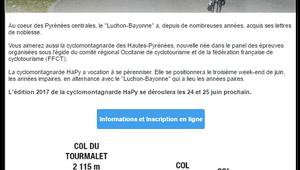 Cyclo montagnarde Hautes Pyrénées