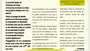 Le bulletin d'Alairac publie le Printemps des Notes