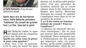 Le Président du Conseil de quartier Vaulx-Sud-La Côte-Tase, Hafid Bellache, alerte face aux dysfonctionnements de la municipalité